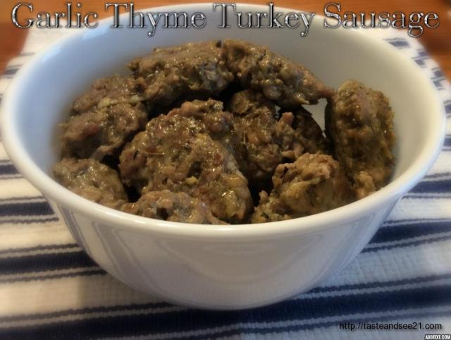 Garlic Thyme Turkey Sausage